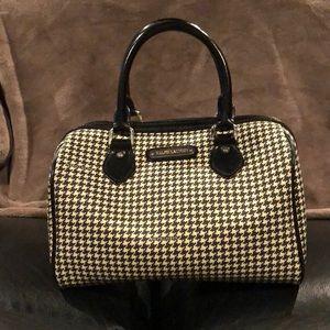 Ralph Lauren vintage handbag black and ivory houndstooth